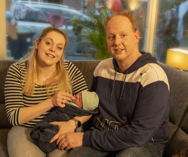 Baby Wout Blokhuis eerstgeborene in Oldenzaal in 2021