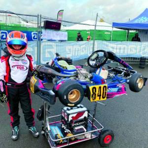 Kartrijder Mart Bult (11) plaatst zich in A-Finale in Le Mans