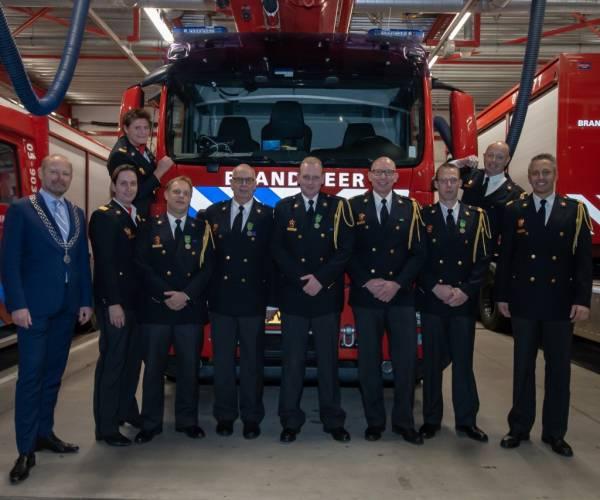 Huldiging en afscheid brandweercollega's Oldenzaal