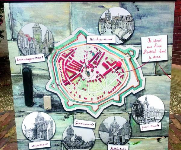 Weer twee schakelkasten beschilderd voor Schoon Oldenzaal
