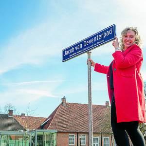 Een stukje geschiedenis in de stadstuin: Jacob van Deventerpad